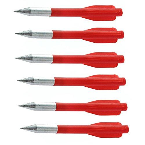 6 mini frecette schlanke rote Pfeile für Armbrust Armbrust Stahlspitze 100 Pfund