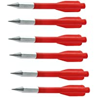6 mini frecette mince flèches rouges à l'arbalète arbalète pointe en acier 100 livres