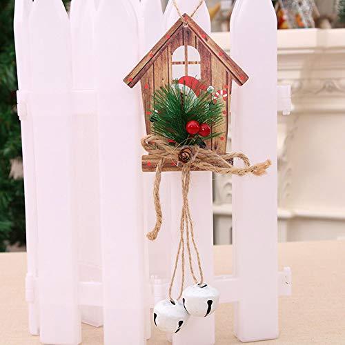 SHengyan Adornos de Madera Adornos de Navidad árbol de Navidad Colgantes de Madera