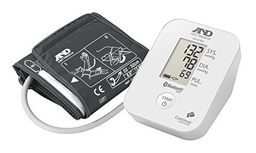 A&D Medical Upper Arm Blood Pressure Monitor with Bluetooth Low Energy Connectivity by A&D