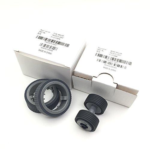 OKLILI PA03670-0001 PA03670-0002 Verbrauchsmaterialien-Set: Pick Roller + Bremsrolle für den Fujitsu fi-7160 fi-7260 fi-7140 fi-7240 fi-7180 fi-7280