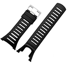 Malloom Correa de la venda de lujo reloj de goma del reemplazo para SUUNTO AMBIT 3 PEAK/Ambit 2/Ambit 1 (negro)