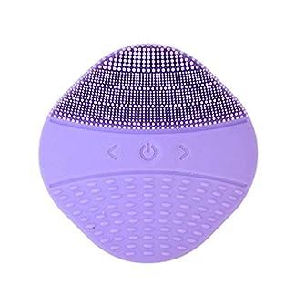 Aparato de masaje facial ultrasónico, herramienta de limpieza de poros MX kingdom, limpiador eléctrico de silicona, color morado