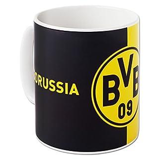 Borussia Dortmund BVB Tasse mit Logo, Steingut, Schwarz/Gelb, 10 x 10 x 15 cm