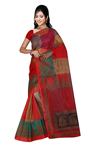 multicolor kota doria (supernet)sari for women