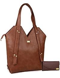 Goldmine Designer Women And Girls Shoulder Bag Brown Color Combo