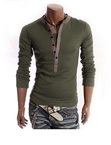 Minetom Uomini T-Shirt 2 in 1 con scollo a V