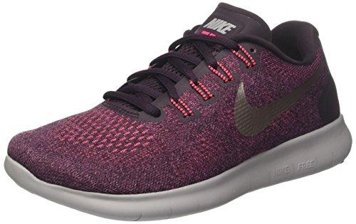 separation shoes e829e d8eb8 NIKE WMNS Free RN 2017, Chaussures de Running Femme, Rose (Bordeaux MTLC