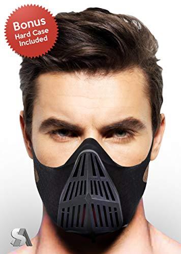 Hohe Intensität Fitness Training Maske | 6Stufen Atmen Maske für intensive Workouts | Ausdauer mit Elevation Training | verbessert Atmen | Bonus Extra Ärmel und Hard Case im lieferumfang enthalten
