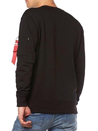 Alpha Industries Sweatshirt schwarz/weiss