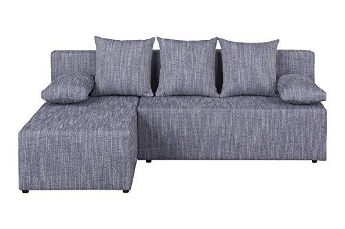 Avanti trendstore - toblino - divano ad angolo con funzione letto e cassettone salvaspazio integrato, tessuto disponibile in 2 diversi colori, dimensioni: lap 200x80x150 cm (grigio chiaro)