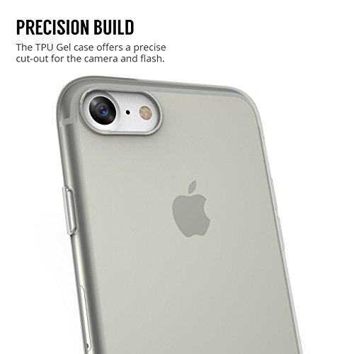 Coque Pour iPhone 8 & iPhone 7 Par Centopi - Anti Rayures - Ultra-Mince & A Poids-Plume - Non Obstructive - En Gel de Silicone TPU Mince Souple - Claire Cristallin Noir Fumée