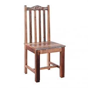 chaise bohème chic en bois patine multicolore Vical Home