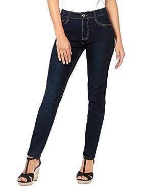 KRISP Pantalones Vaqueros Mujer Negro Azul Pitillo Baratos Elásticos