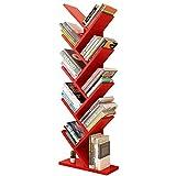 Bücherregal in Baumform, massivem Holz, Regale für CD & Bücher, tragbare Multifuncation-Kinderspielzeug-Organiser, Home Office (11 Farben)
