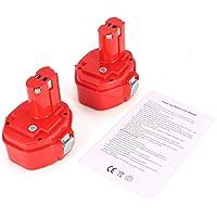Wafalano 14.4V 3000mAh 2pcs Ni-MH Power Tools Rechargeable Replacement Batteriesfor Makita 1420 1422 192600-1 193985-8 194172-2 PA14
