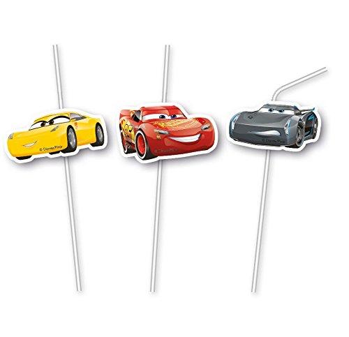 6 Trinkhalme * CARS 3 * von Disney für Kindergeburtstag oder Motto-Party // Party Straws Strohhalme Plates Motto Lightning McQueen Autos Rennautos Rennen