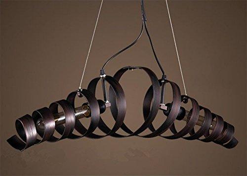 BAYCHEER Industrielampe Kronleuchter Eisen Lampe Länge 70cm Bar Loft Design Leuchte - 2