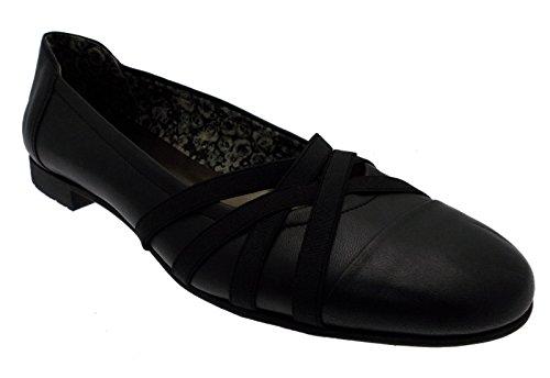 paperina ballerina pantofolina pelle nero elastico art 3526 36 nero