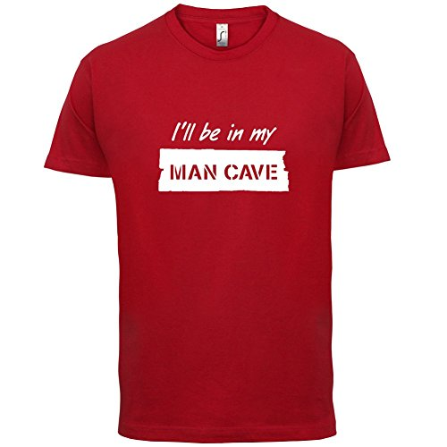 ill-be-in-my-mancave-mens-t-shirt-red-large