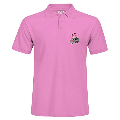 Stylisches Polo Shirt Outdoor Sport Kurze Shirt mit Kragen Ich Immer Noch Blocks bedruckt XXL rose (Plain-kragen-shirt)
