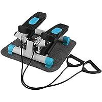 Preisvergleich für Hehilark 2 in1 Twister Stepper Up-Down-Stepper mit Zugbändern Trainingsbändern Multifunktions-Display für Anfänger & Fortgeschrittene