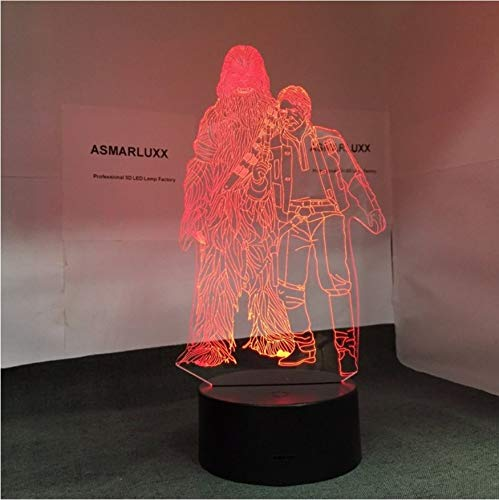 3D Nachtlichter Han Solo Form 3D Lampe Led-Licht Touch Controller Tischlampe Nachtlampe Modell Toy Star