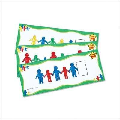Learning Resources LSP3158-UKM Doppelseitige Aufgabenkarten Hand-Figuren (Activity Learning Resources Cards)