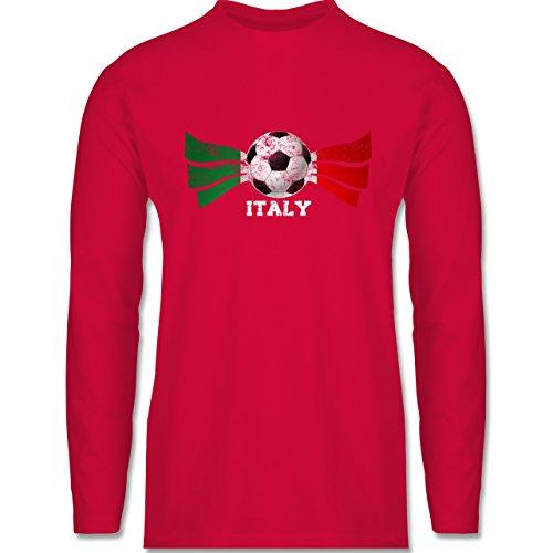 EM 2016 - Frankreich - Italy Fußball Vintage - Longsleeve / langärmeliges T-Shirt für Herren Rot