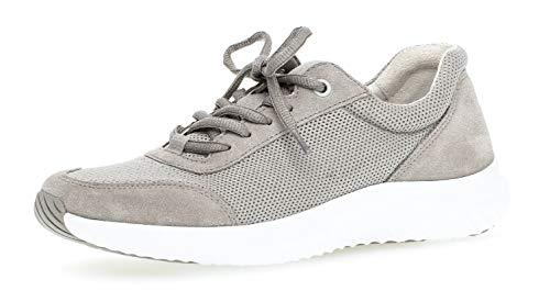 neaker,Low-Top Sneaker, Frauen,Halbschuh,Sportschuh,Schnürschuh,atmungsaktiv,Optifit- Wechselfußbett,grau,6 UK ()