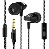 Kingyou In Ear Ohrhörer Kabelgebundene Headsets Bass Kopfhörer für Handys MP3-Player Tablets Sony iPhone 6 6S Samsung ipod ipad usw KM02(Schwarz)
