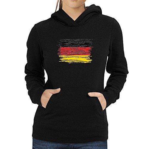 Eddany Schleswig Holstein Flag Scratched Women Hoodie