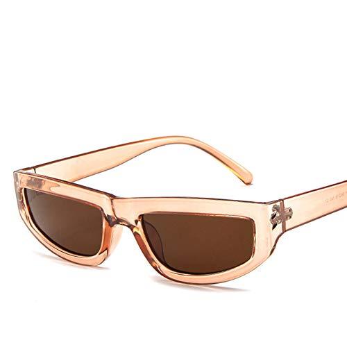 ACKCC Rechteck Sonnenbrille FrauenMarkendesignerKleine Rahmen Spiegel Gläser Shopping PartyUV400
