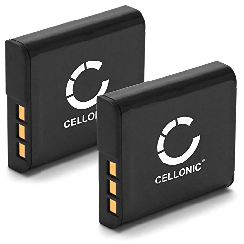 Cellonic 2X Akku kompatibel mit Sony DSC-H50 -H3 -H7 -H9 -H10 -H20 -H50 -H55 -H70 -H90 DSC-HX9V -HX5V -HX7V -HX10V -HX20V DSC-W55 -W50 -W80 -W120 -W170 -W300 900mAh Ersatzakku NP-BG1 NP-FG1 Batterie Np-fg1 Lithium-batterie