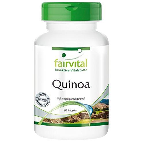 Quinoa 700mg - für 2 Monate - VEGAN - HOCHDOSIERT - 90 Kapseln - enthält alle acht essentiellen Aminosäuren