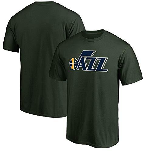 QAZ NBA Utah Jazz Jersey Sommer Team Match Uniform Brief Drucken Lässig Kurzes T-Shirt Geeignet Für Männer Und Frauen NBA T-Shirt,Green2-XXL (Jazz Utah Logo)