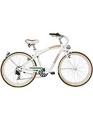 """Bicicleta crucero Cicli Adriatica Cruiser Alu hombres cuadro en aluminio 26"""" 6 velocidad (Blanco)"""
