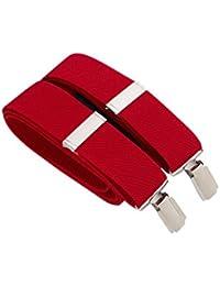 Savile Row Men's Red Braces In Gift Box