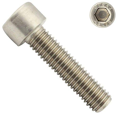 Zylinderschrauben mit Innensechskant - M6x25 - ( 10 Stück ) - DIN 912 ( ISO 4762 ) - Vollgewinde - Zylinderkopfschrauben - aus rostfreiem Edelstahl A2 V2A - SC912