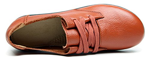 Fangsto  Oxford, Chaussures à lacets fille femme Jaune