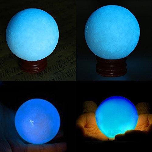 ow In Dark Stone Luminous Pearl Quarz Crystal Sphere Ball Night Pearl ()