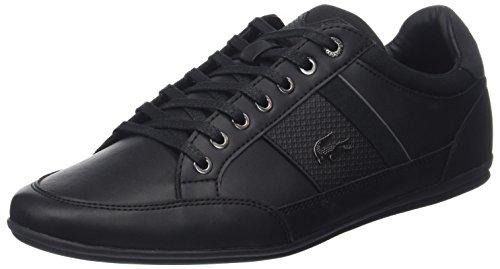 Lacoste Chaymon 118 1 Cam, Baskets Hommes, Noir (Blk/DK Gry), 40 EU
