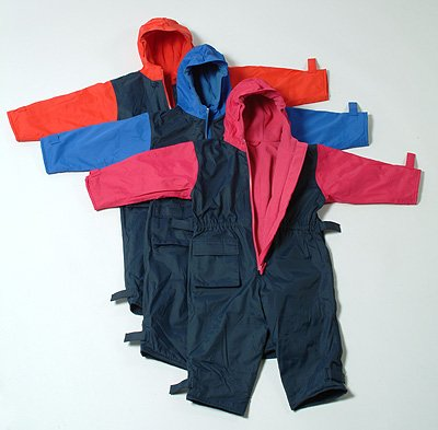 Togz Waterproof Warm & Dry Suits - Navy/Red 104cm (3 yrs)