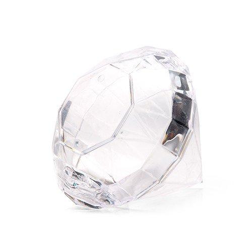 Pz 12 Porta Confetti a forma di Diamante in Plexiglass cm o porta Riso Matrimonio Anniversario cresima bomboniera battesimo nascita ...