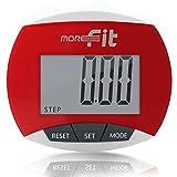 moreFit Podomètre, Marche, Suivi Précis Du Nombre De Pas, Portable, Podomètre Compteur De Pas/Distance/Calories