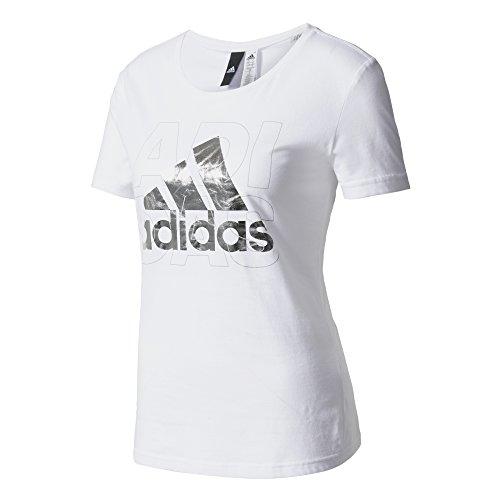 adidas Foil Logo T-shirt für Damen, Weiß (Weiß), M (Shirt Adidas Weiß)