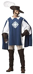 Mens Large Musketeer Fancy Dress Adult Costume Outfit (disfraz)