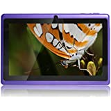 JEJA 7 Zoll Android Google Tablet PC 4.2.2 8GB WiFi Dual Core Dual Camera Capacitive Touch Screen Allwinner A23 DDR3 1.5GHz 512MB Violett