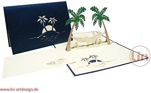 carte-lin-pop-up-3d-cartes-de-voeux-felicitations-hamac-vacances-retraite-bon-retablissement-palmier
