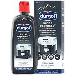 durgol swiss espresso - Détartrant spécial anti-calcaire pour tous types de machines à café - Enlève le calcaire efficacement - 1 x 500ml